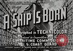 Image of Victory ship launch California United States USA, 1941, second 4 stock footage video 65675025829