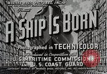 Image of Victory ship launch California United States USA, 1941, second 6 stock footage video 65675025829