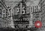 Image of Victory ship launch California United States USA, 1941, second 10 stock footage video 65675025829