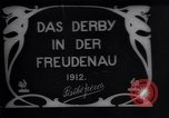 Image of horse race Derby in Austria Vienna Austria Freudenau, 1912, second 1 stock footage video 65675025869