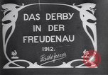 Image of horse race Derby in Austria Vienna Austria Freudenau, 1912, second 3 stock footage video 65675025869