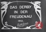 Image of horse race Derby in Austria Vienna Austria Freudenau, 1912, second 4 stock footage video 65675025869