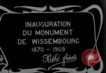 Image of unveil monument Wissembourg Alsace France, 1909, second 1 stock footage video 65675025897
