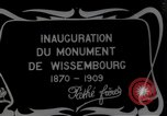 Image of unveil monument Wissembourg Alsace France, 1909, second 2 stock footage video 65675025897