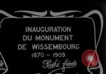 Image of unveil monument Wissembourg Alsace France, 1909, second 3 stock footage video 65675025897