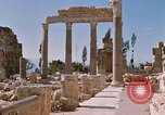 Image of temples of Baalbek Lebanon, 1968, second 8 stock footage video 65675025904