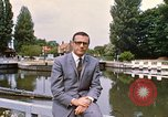Image of river bank United Kingdom, 1968, second 10 stock footage video 65675025909