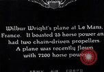 Image of Wright airplane flight in France Le Mans France, 1908, second 2 stock footage video 65675025926