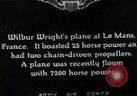 Image of Wright airplane flight in France Le Mans France, 1908, second 6 stock footage video 65675025926