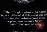 Image of Wright airplane flight in France Le Mans France, 1908, second 10 stock footage video 65675025926