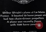 Image of Wright airplane flight in France Le Mans France, 1908, second 11 stock footage video 65675025926