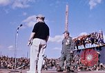 Image of Bob Hope show Pleiku South Vietnam Camp Enari, 1967, second 11 stock footage video 65675025970