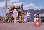 Image of Bob Hope show Pleiku South Vietnam Camp Enari, 1967, second 2 stock footage video 65675025975