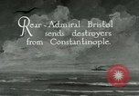 Image of US destroyers respond  to Smyrna fire Istanbul Turkey, 1922, second 3 stock footage video 65675025989