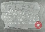 Image of Howard Carter at King Tut tomb Egypt, 1923, second 1 stock footage video 65675025991