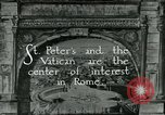 Image of sailors visit Vatican City Rome Italy, 1922, second 2 stock footage video 65675025999