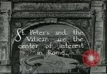 Image of sailors visit Vatican City Rome Italy, 1922, second 3 stock footage video 65675025999