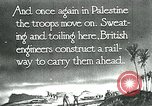 Image of British military engineers build a railroad line Palestine, 1917, second 4 stock footage video 65675026013