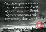 Image of British military engineers build a railroad line Palestine, 1917, second 8 stock footage video 65675026013