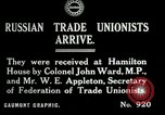 Image of trade union leaders London England United Kingdom, 1919, second 1 stock footage video 65675026030