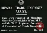 Image of trade union leaders London England United Kingdom, 1919, second 2 stock footage video 65675026030