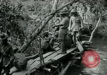 Image of British forces build a bridge across Wami River Tanzania East Africa, 1918, second 8 stock footage video 65675026031