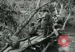 Image of British forces build a bridge across Wami River Tanzania East Africa, 1918, second 10 stock footage video 65675026031