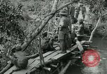 Image of British forces build a bridge across Wami River Tanzania East Africa, 1918, second 12 stock footage video 65675026031