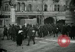 Image of Italian prisoners passing through Udine after battle of Caporetto Italy, 1917, second 8 stock footage video 65675026034