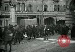 Image of Italian prisoners passing through Udine after battle of Caporetto Italy, 1917, second 10 stock footage video 65675026034