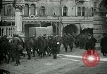 Image of Italian prisoners passing through Udine after battle of Caporetto Italy, 1917, second 11 stock footage video 65675026034