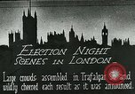 Image of Crowds gather to learn results of general elections London England United Kingdom, 1924, second 1 stock footage video 65675026041