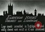 Image of Crowds gather to learn results of general elections London England United Kingdom, 1924, second 2 stock footage video 65675026041