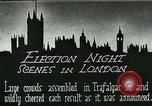 Image of Crowds gather to learn results of general elections London England United Kingdom, 1924, second 3 stock footage video 65675026041