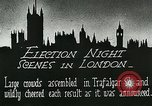 Image of Crowds gather to learn results of general elections London England United Kingdom, 1924, second 6 stock footage video 65675026041