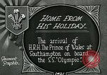 Image of RMS Olympic arriving at port, carrying Prince of Wales. Southampton England, 1924, second 7 stock footage video 65675026042