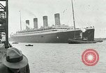 Image of RMS Olympic arriving at port, carrying Prince of Wales. Southampton England, 1924, second 11 stock footage video 65675026042