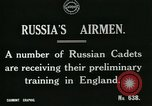 Image of Russian Air cadets train in England England, 1917, second 3 stock footage video 65675026045