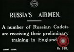 Image of Russian Air cadets train in England England, 1917, second 4 stock footage video 65675026045