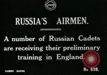 Image of Russian Air cadets train in England England, 1917, second 5 stock footage video 65675026045