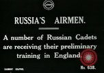 Image of Russian Air cadets train in England England, 1917, second 6 stock footage video 65675026045