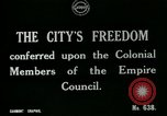 Image of Colonial officials arrive to receive Freedom of the City of London London England United Kingdom, 1917, second 3 stock footage video 65675026046