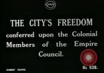 Image of Colonial officials arrive to receive Freedom of the City of London London England United Kingdom, 1917, second 6 stock footage video 65675026046