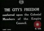 Image of Colonial officials arrive to receive Freedom of the City of London London England United Kingdom, 1917, second 7 stock footage video 65675026046
