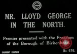 Image of Freedom of the Borough conferred upon David Lloyd George   Birkenhead England, 1918, second 1 stock footage video 65675026049