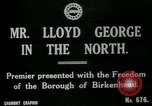 Image of Freedom of the Borough conferred upon David Lloyd George   Birkenhead England, 1918, second 2 stock footage video 65675026049