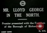 Image of Freedom of the Borough conferred upon David Lloyd George   Birkenhead England, 1918, second 3 stock footage video 65675026049