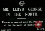 Image of Freedom of the Borough conferred upon David Lloyd George   Birkenhead England, 1918, second 4 stock footage video 65675026049