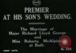 Image of Richard Lloyd George Bath England, 1917, second 2 stock footage video 65675026051
