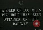 Image of very early maglev train demonstration United Kingdom, 1920, second 1 stock footage video 65675026053
